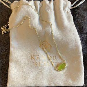 Kendra Scott Elisa peridot August necklace gold